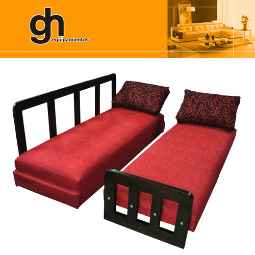 Sof cama d 1 y 2 plazas marinera transformable sill n for Sofa cama 1 plaza mercadolibre