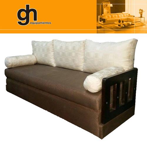 sofà cama d 1 y 2 plazas, marinera. transformable! sillòn gh