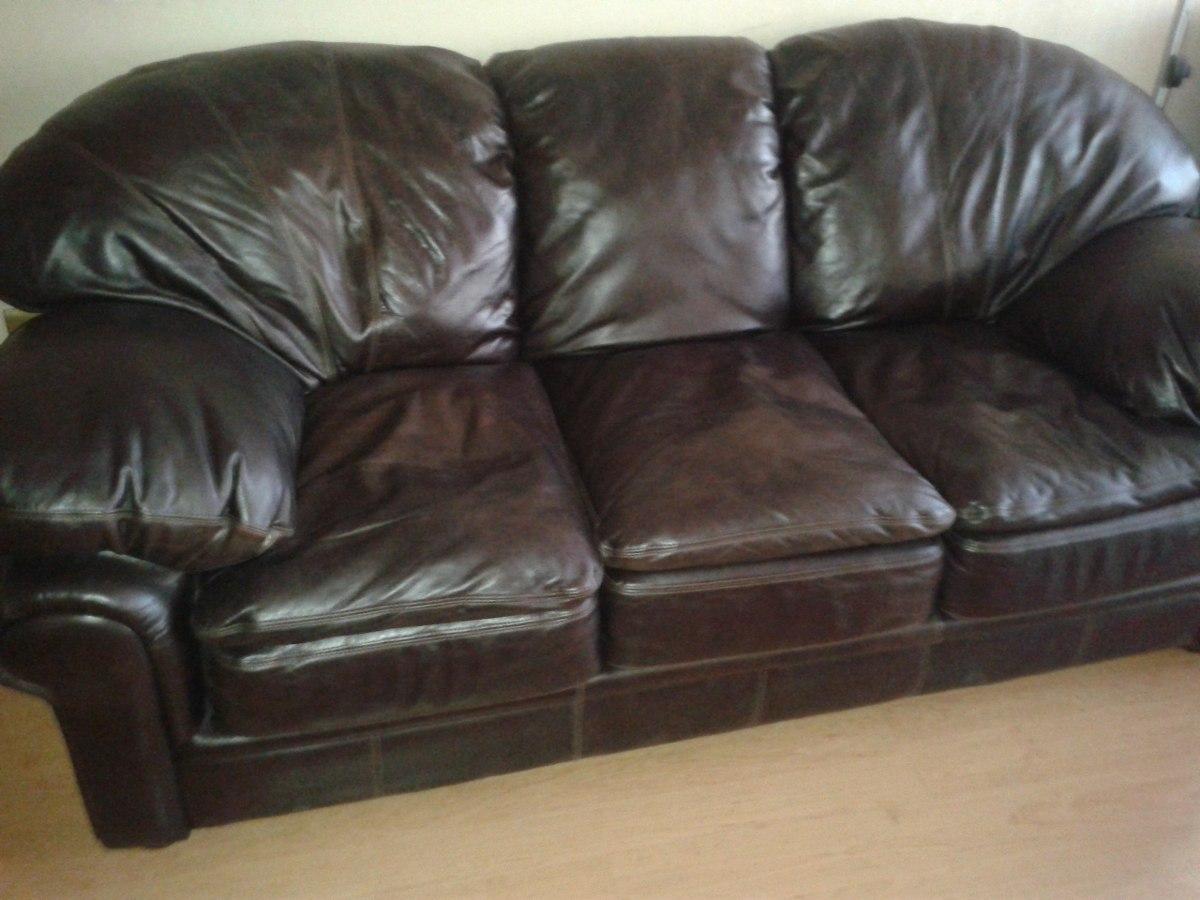 Sofa 100 cuero 3 cuerpos en mercado libre - Protector de sofas de cuero ...