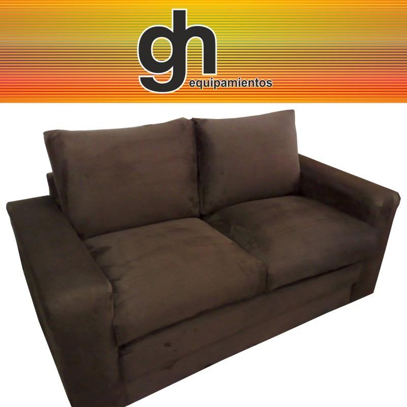 Sofa 2 cuerpos sillon muy comodo telas exclusivas for Sillon orejero comodo