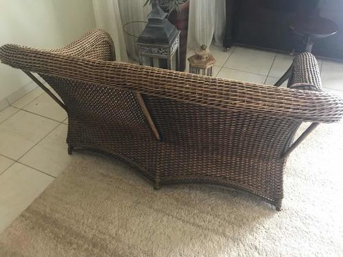 sofa 2 lugares de junco natural novo