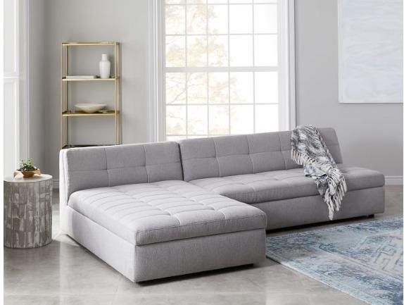 04dc8aac3139d Sofá 2 Lugares E Chaise Grande Confortável Para Sala Familia - R ...