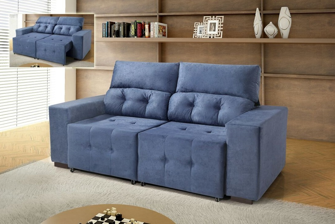 798401a9d Sofa 2 Lugares Retratil E Reclinavel Suede - Sofa Design Ideas