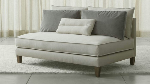 sofá 2 lugares sem braços s.e design