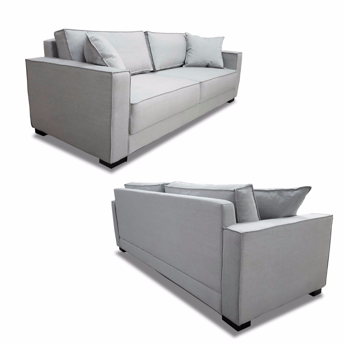 Sofa 3 Lugares 2.20m - Modelo Small - (tecido Linho) - R ...