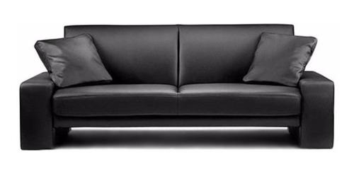 sofá 3 lugares corano preto