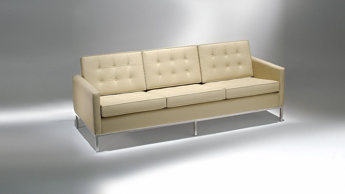 Sofa 3 Lugares Fk Florence Knoll Couro