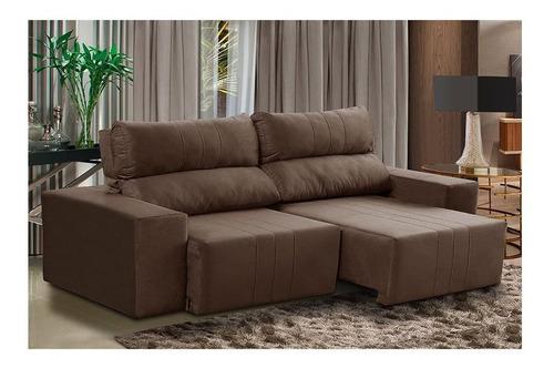 sofá 3 lugares genova retrátil e reclinável abitare 658
