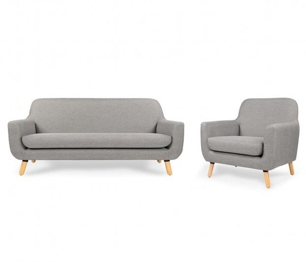 Sofá 3 Puestos + Poltrona, Color Gris,linea-design - $ 2.220.900 en ...