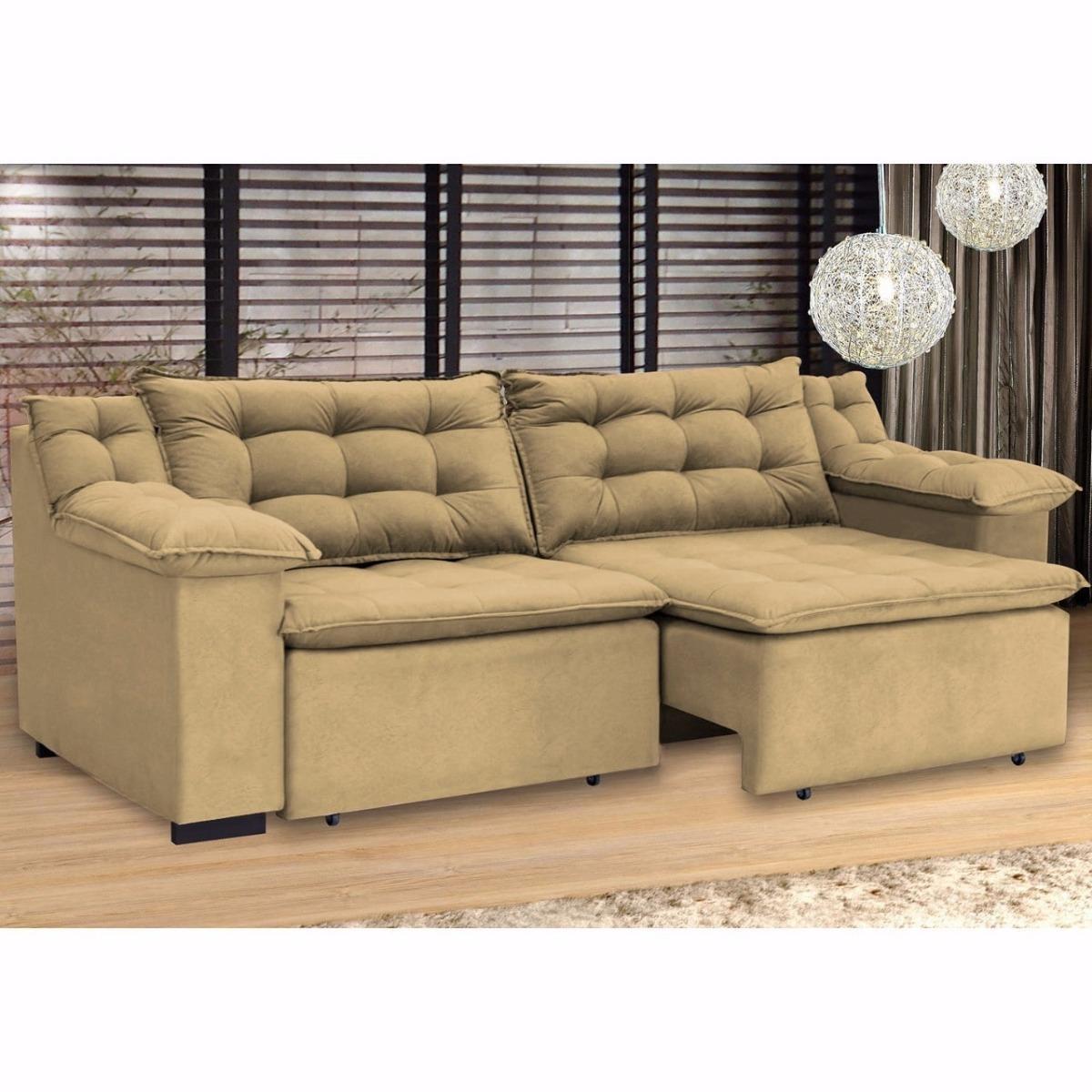 Sofá 4 Lugares 2,50m Retrátil Confort Umaflex Pronta ...