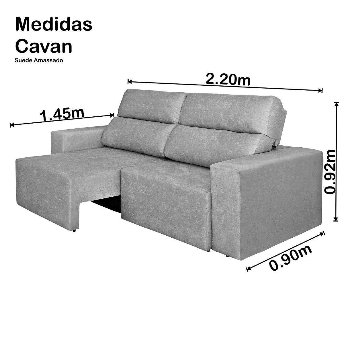 8a75d92c4 sofá 4 lugares cavan retrátil e reclinável suede a marrom. Carregando zoom.