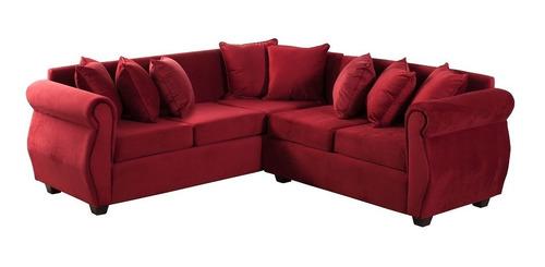 sofa 5 cuerpos seccional bugambilia felpa innovamobel