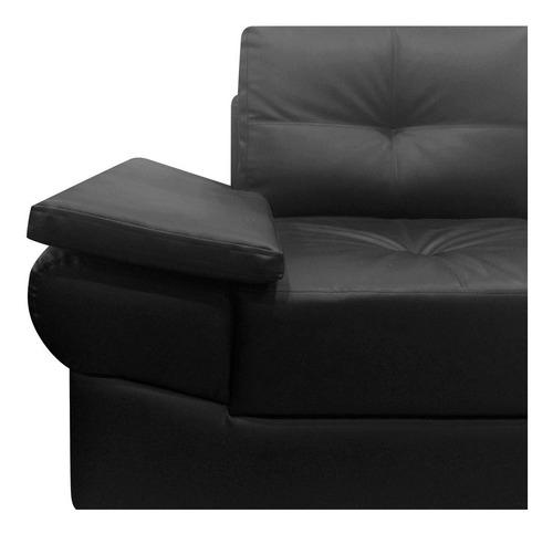 sofá amoblando michelle 2 puestos cuero sintético