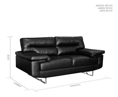 sofá amoblando rudy 2 puestos cuero sintético
