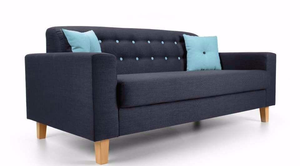 sof aspen retro 3 lugares r em mercado livre. Black Bedroom Furniture Sets. Home Design Ideas