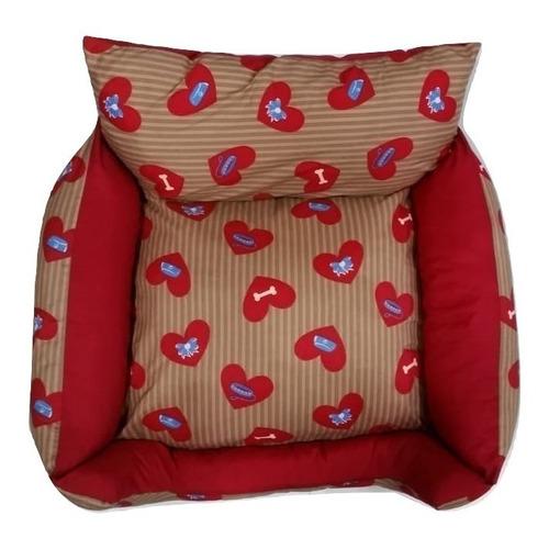 sofa bercinho cama p/cachorro gato caminha de alta qualidade e conforto petshop caes e gatos vermelha.