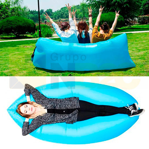 sofá boiá inflável praia camping piscina descanso u1
