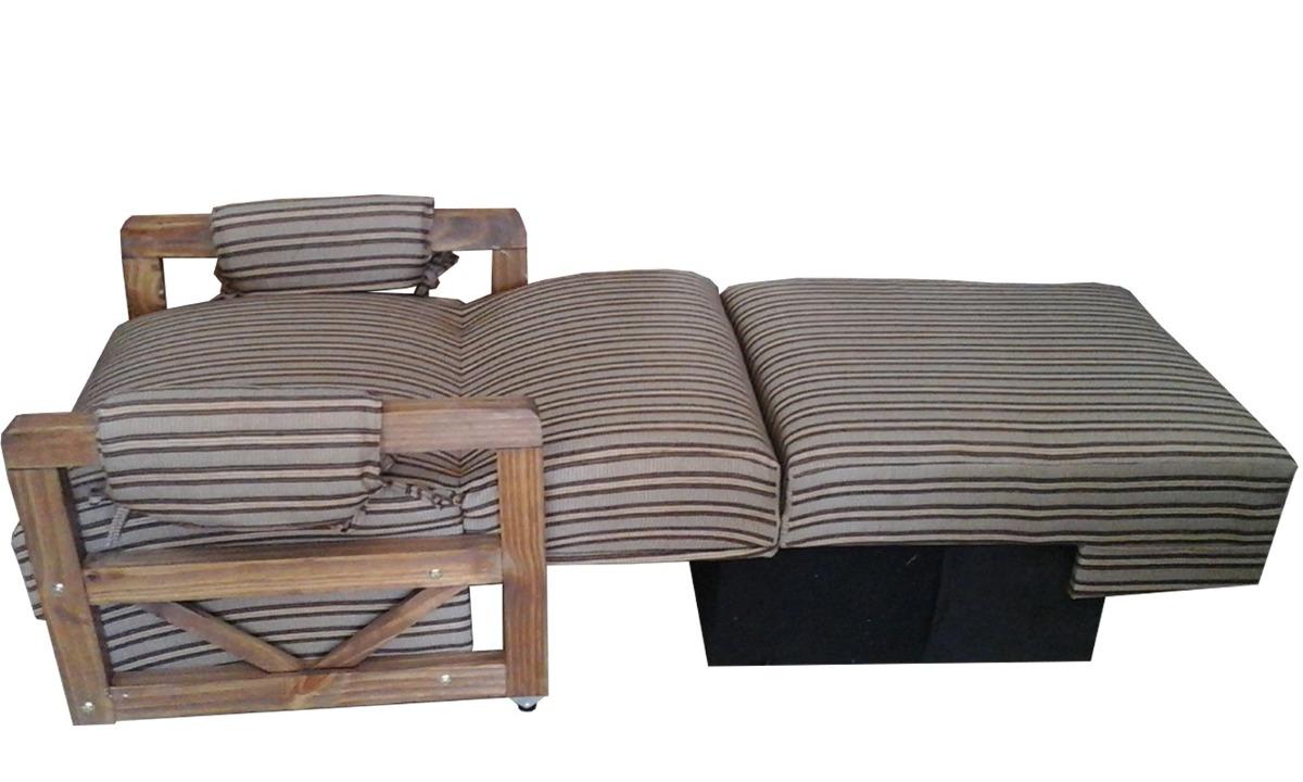 Sofa cama 1 plaza con posabrazos de madera mi casa 3 for Sofa cama 1 plaza chile