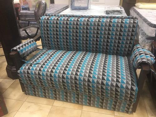 sofa cama 2 plazas con posabrazos mi casa