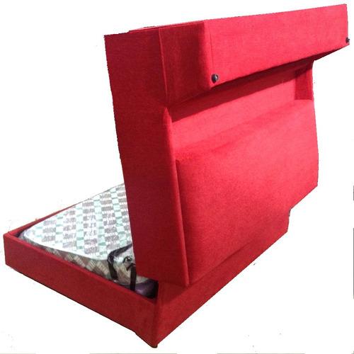 sofá cama 2 plazas libra mecanismo resistente y funcional