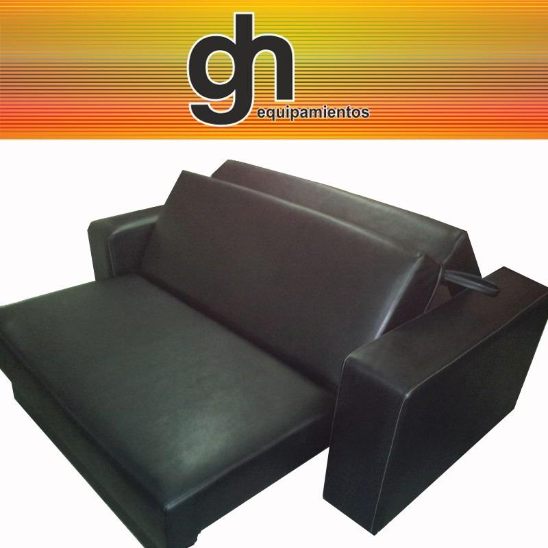 Sof cama 2 plazas recto con almohadones sueltos for Sofa cama 2 plazas oferta