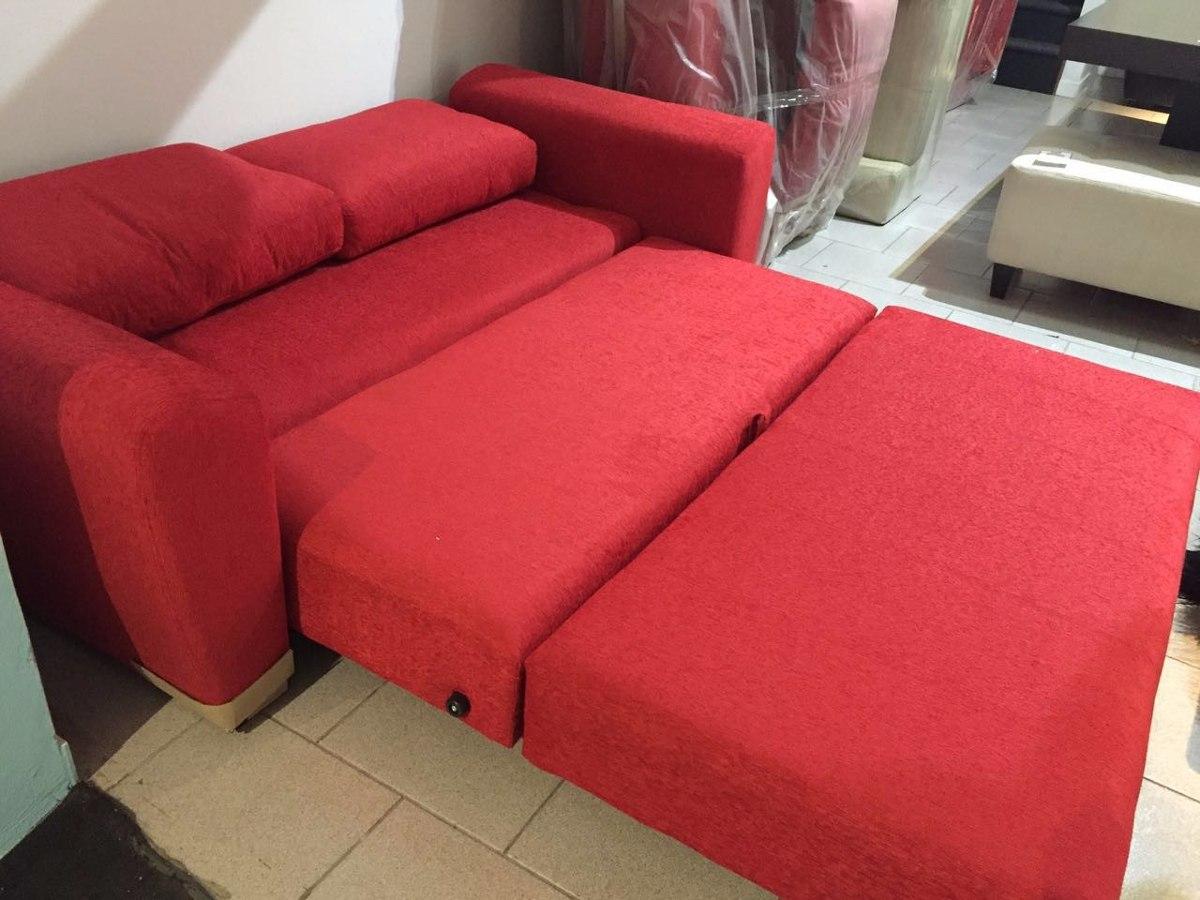 Superior Sofa Cama 2 Plazas Tapizado En Chenille Rojo. Cargando Zoom.
