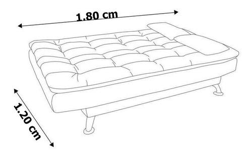 sofá cama 3 posiciones  comodity clic clac