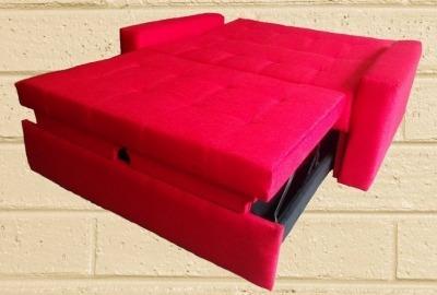 sofá cama alemán plegable 3 posiciones brazos fijos