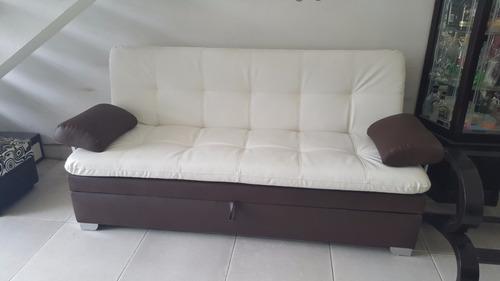 sofa cama baúl multifuncional colchoneta  bogota