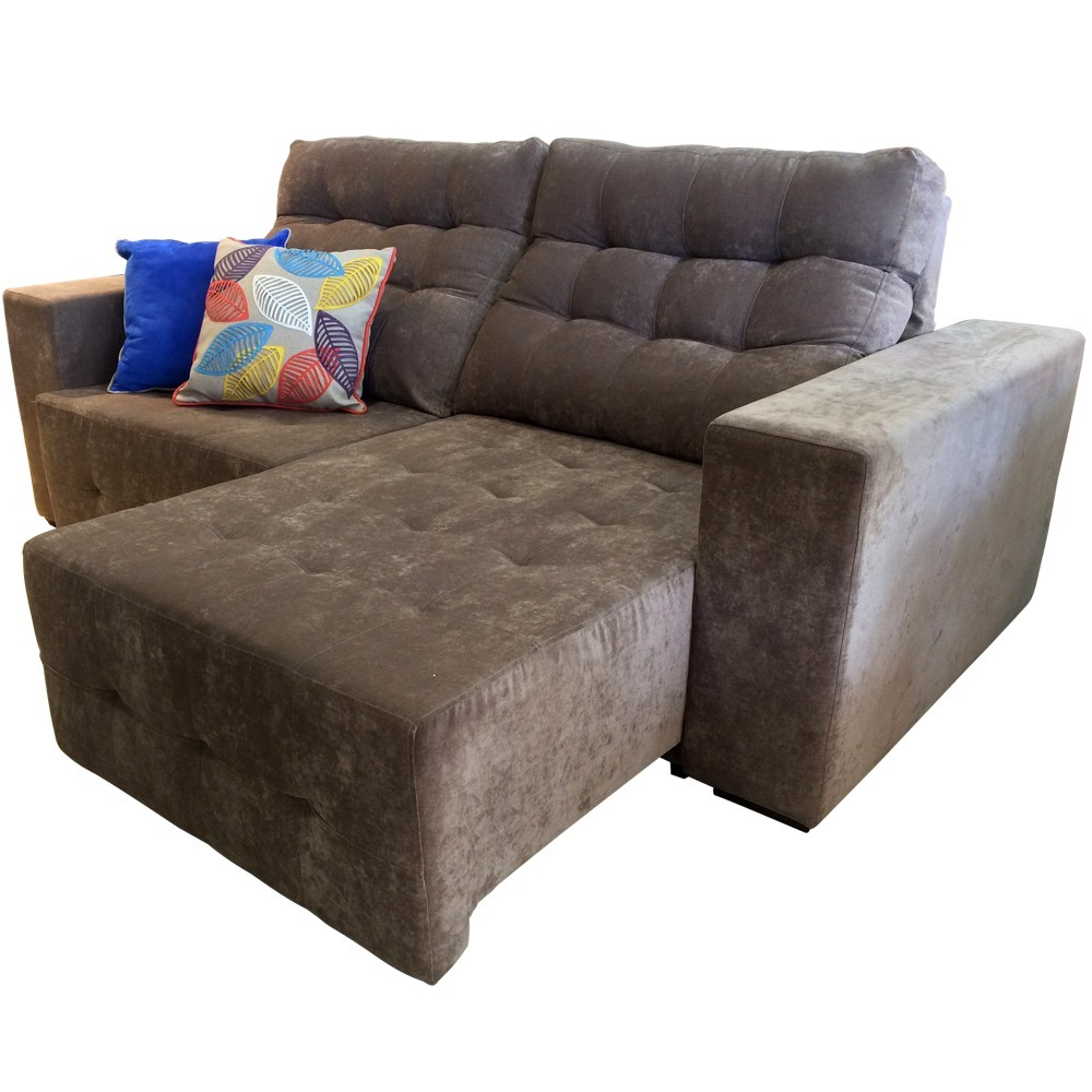 512ce6886 sofa cama casal 4 lugares retrátil reclinável lufer suede. Carregando zoom.