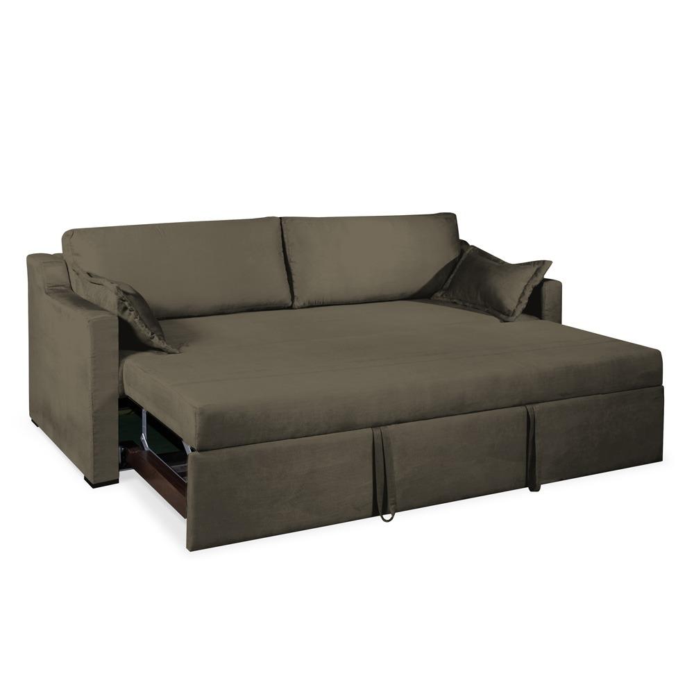 c9ff004fa Sofá-cama Casal Com 2 Almofadas Decorativas
