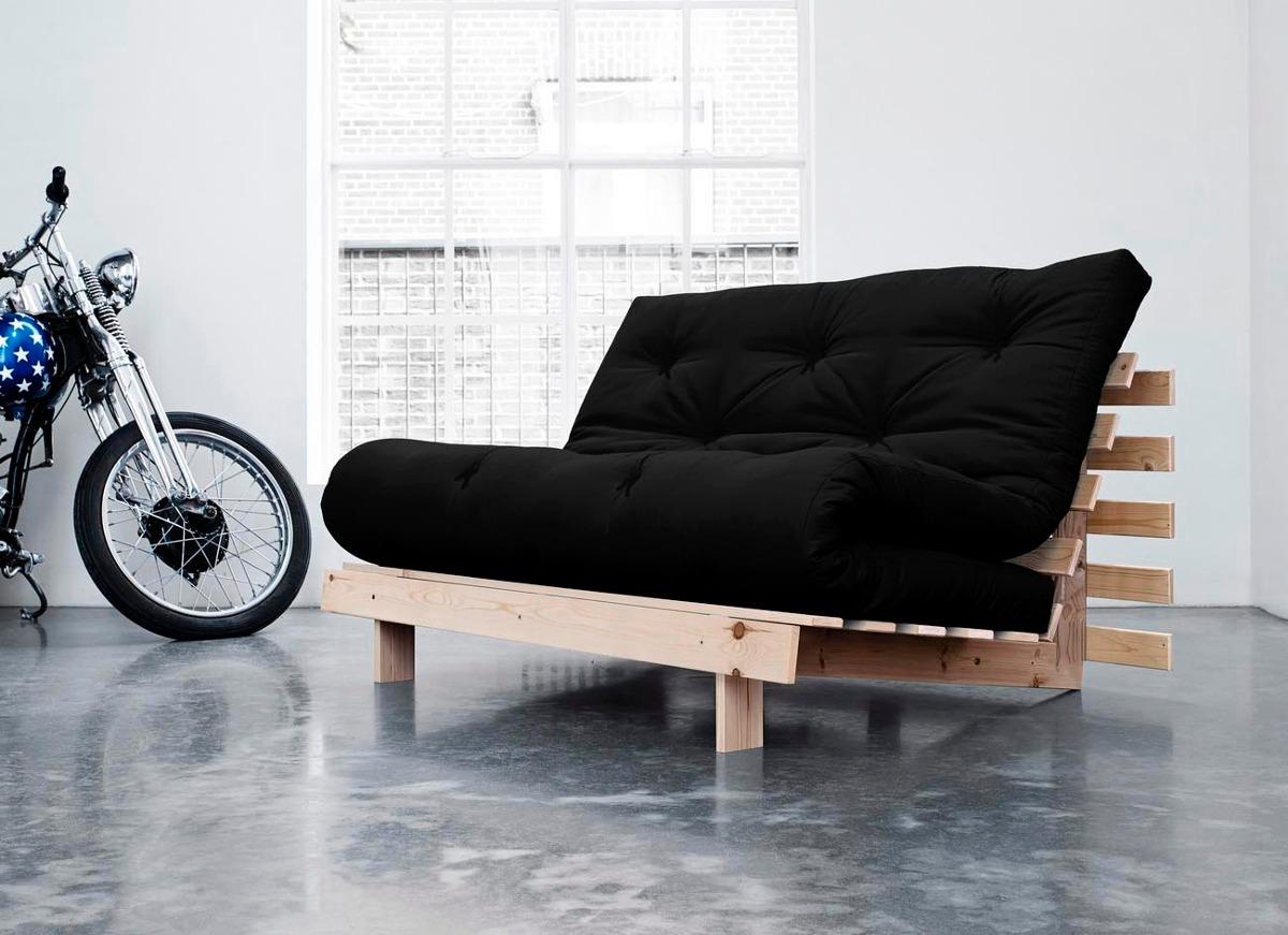 Sofa Cama Casal Futon Tokyo Madeira Maciça Ta Entrega Carregando Zoom