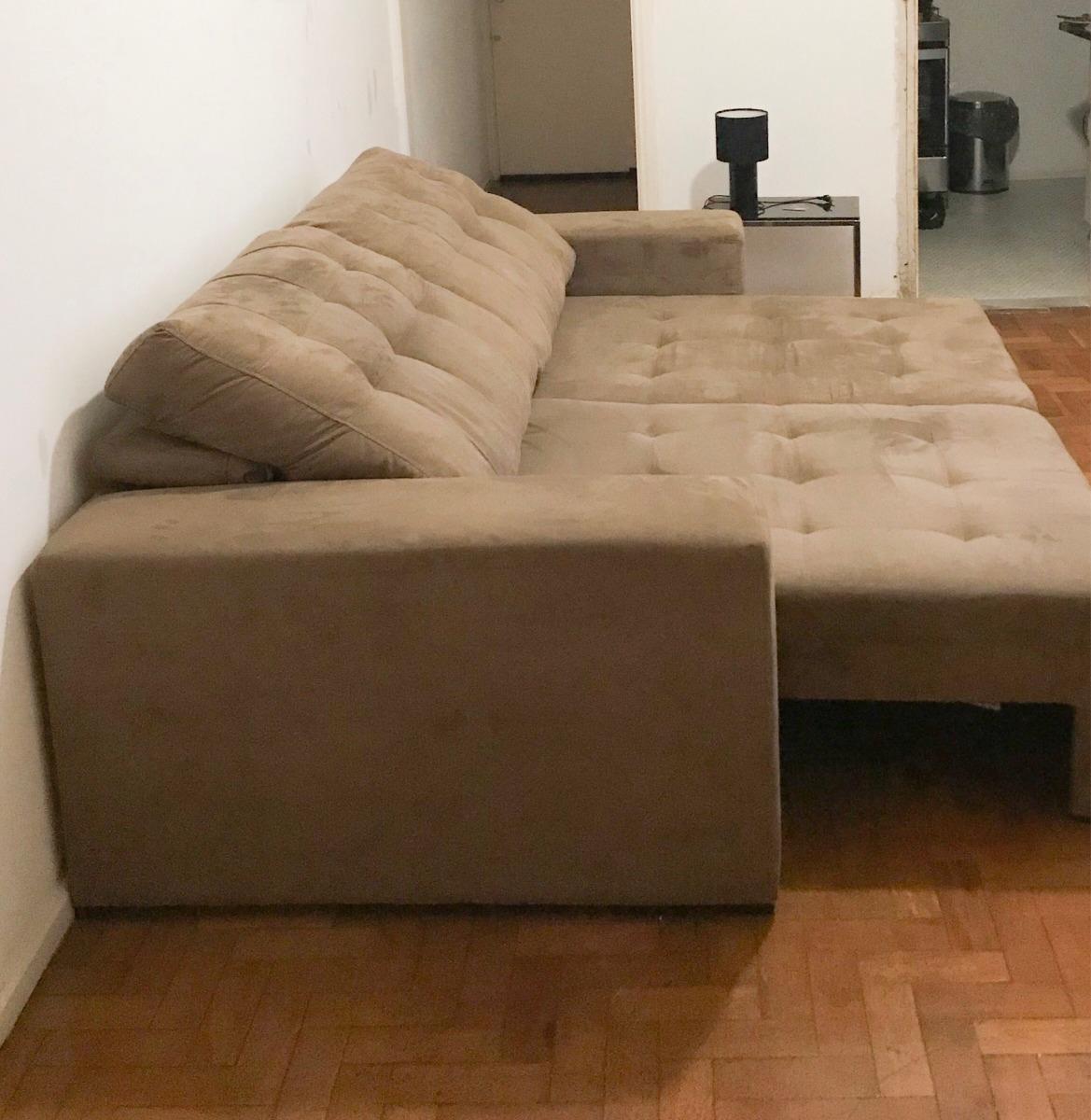 de4d4ea81 sofa cama casal retrátil reclinável lufer suede 4 lugares. Carregando zoom.