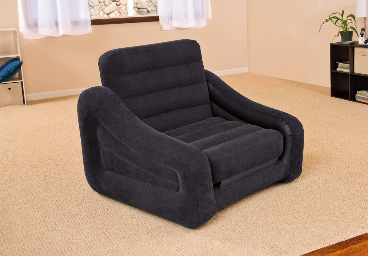 Sof cama colch n inflable intex inidividual sill n for Sillon cama colchon