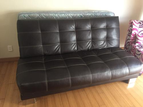 sofa cama color chocolate