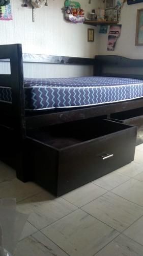 sofá cama con 2 cajones y colchón básico