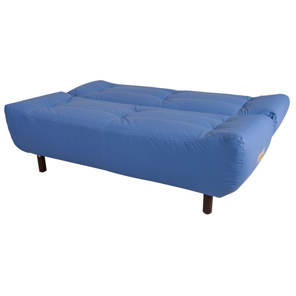Sof cama contempor neo verza color azul 4 en for Mercado libre sofa camas nuevos