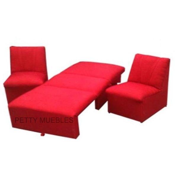 sofa cama de 1 plaza 2 modulos de 1 cuerpo