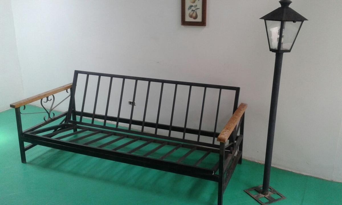 sofa cama de hierro forjado con farol bs en