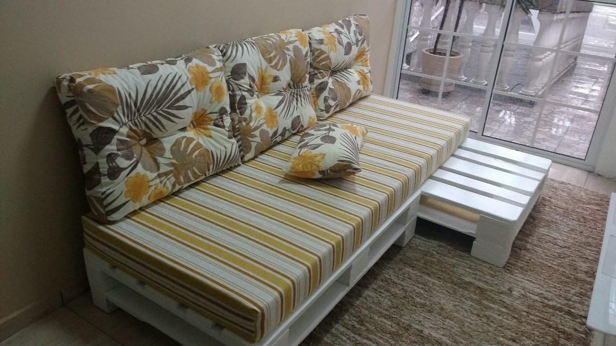 Sof cama de palete completo r em mercado livre for Divan cama completo