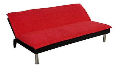 sofa cama de tres posiciones color marron