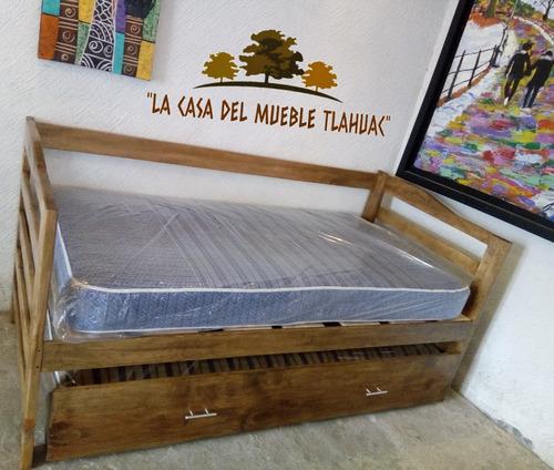 sofá cama doble individual con colchones y msi