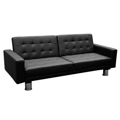 sofá cama empoli 3 cuerpos 2 plazas en pu 12 pagos s/r loi