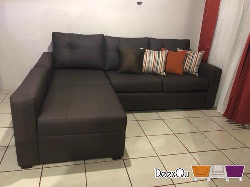sofá cama en l con herraje turan