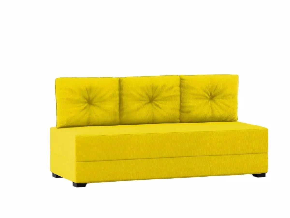 Sofa Cama Futon Casal Com 3 Almofadas Madeira Lançamento Carregando Zoom