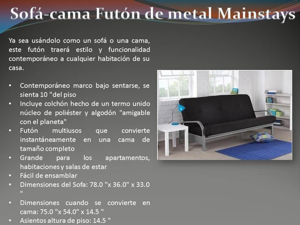 Sofa Cama Futon De Metal Mainstays - $ 3,999.00 en Mercado Libre