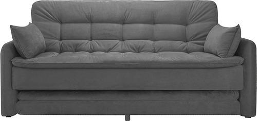 sofá cama  gris sillon sillones juego living divino