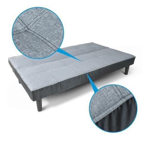 sofa cama individual tres posiciones minimalista resistente en tela y loneta envio gratis!! se manda casi armado