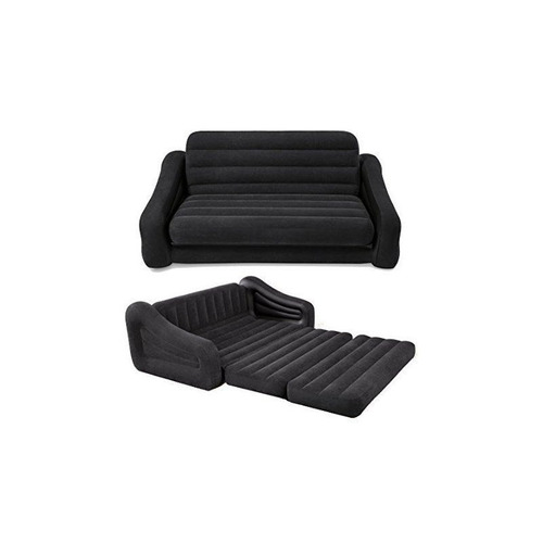 sofá cama inflável  casal de luxo  intex