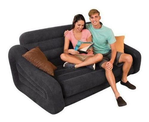 sofá cama inflável intex 200kg cama casal duplo - intex